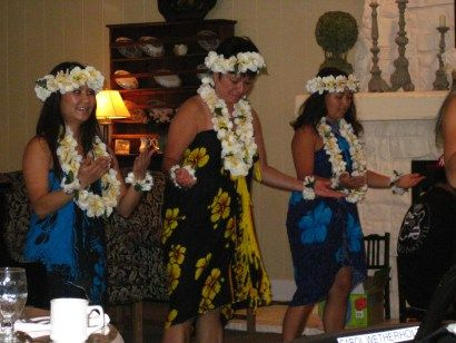 Residents were entertained by authentic Hawaiian Dancers dressed in their traditional heritage clothing.