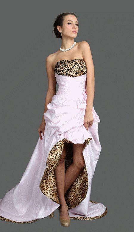 leopard print wedding dress | animal print products you might like 2013 new leopard animal print ...