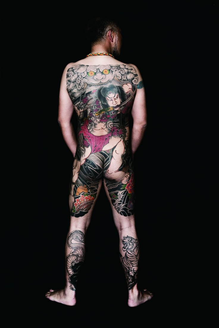 Japanese calf tattoos by durb - Japanese Tattoo Art Design