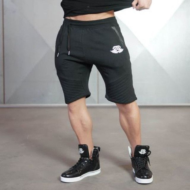 Gender: Men Item Type: Shorts Style: Fashion Pattern Type: Letter Material: Lycra,Polyester,Cotton Brand Name: PHYSIQ Fit Type: Regular Model Number: SW-9582 Length: Knee Length Decoration: Spliced Wa