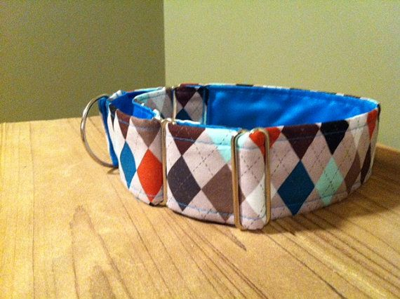 2 Wide Martingale Dog Collar  Dapper Doggy by ClassyLassieCollars, $22.00: Pet Products