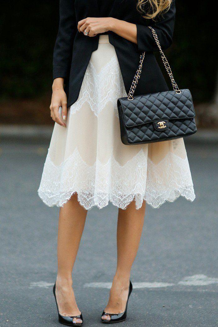 jupe dentelle haute classe pour une allure classique