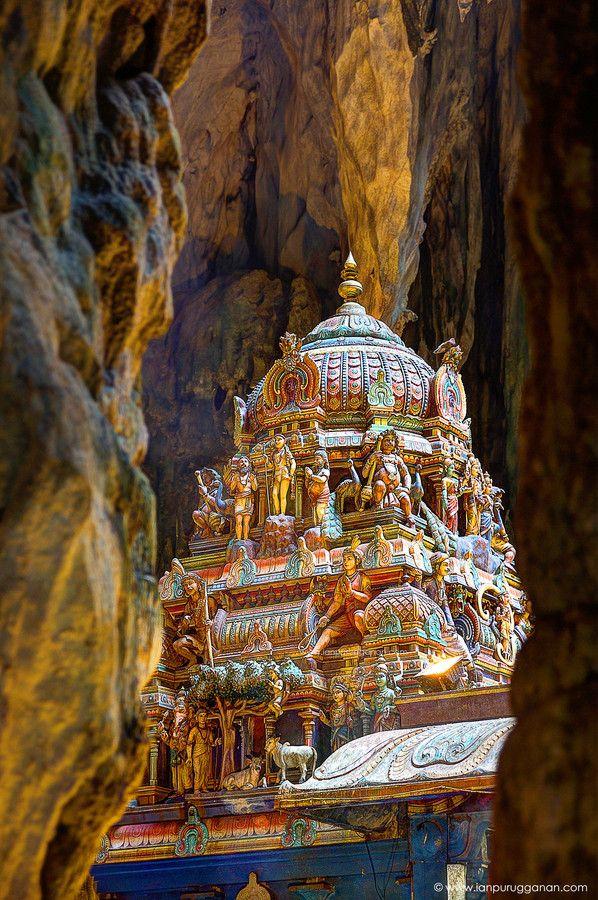Hindu Temple inside the Batu Caves of Kuala Lumpur, Malaysia