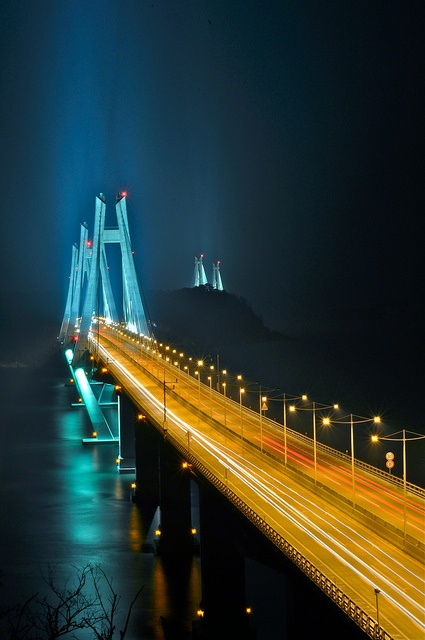 Geoga Bridge Stream, Geoje Island and Busan, Korea