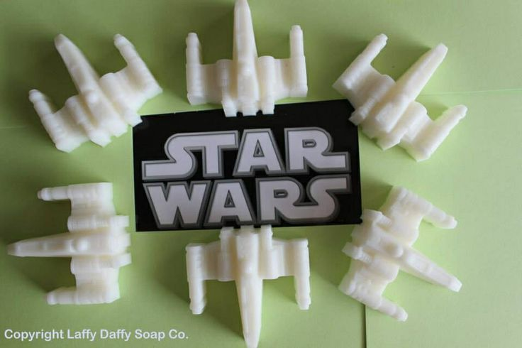 X-Wing fighter soaps