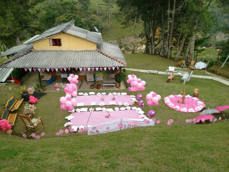 picnic party decoration mountain house