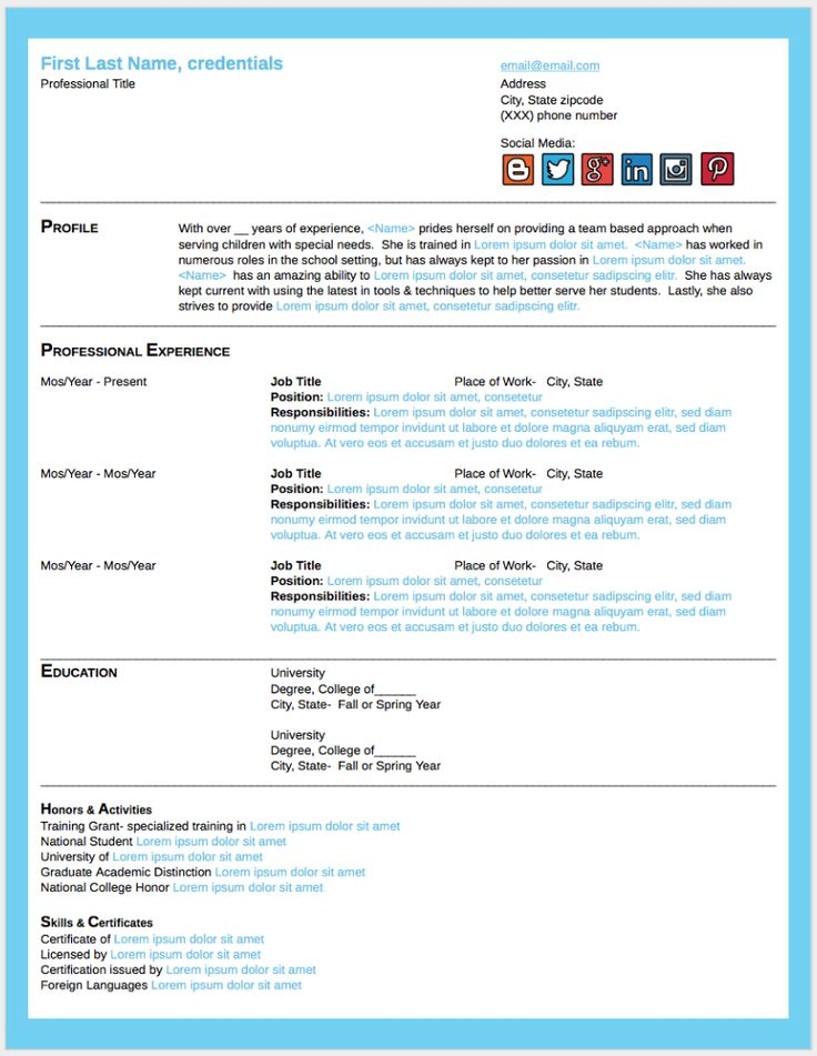 The Best Resume Format Guide for 2016!  Easybee Freebie