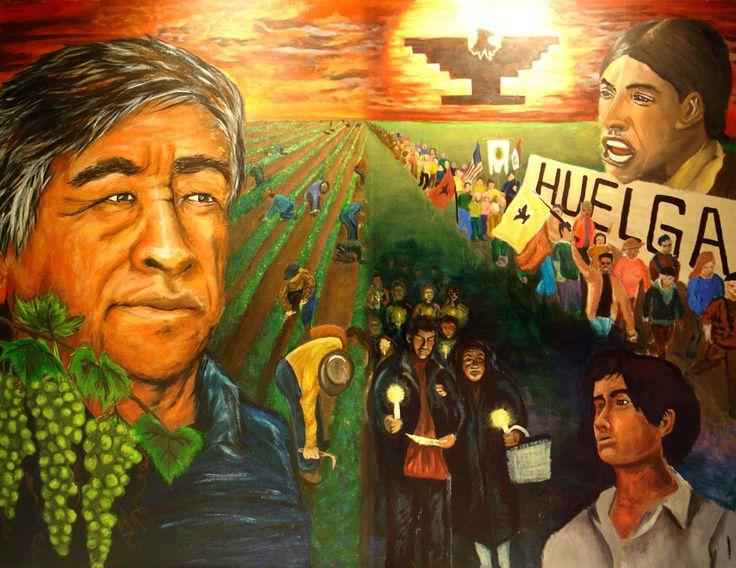 17 best ideas about cesar chavez on pinterest coretta for Cesar chavez mural