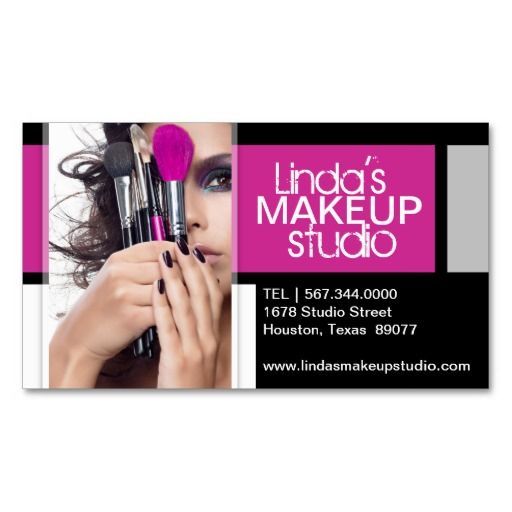 22 best business card ideas images on pinterest business card customizable makeup artist business card template reheart Choice Image