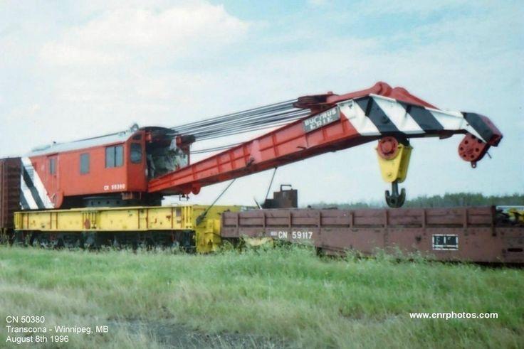 CN 50380. 250-ton crane.  Built 1954.  Location - Transcona, Manitoba.