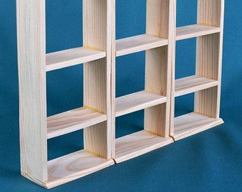 """Universal Shelving Dollhouse furniture ONE SECTION, 1:6 scale dolls 12"""" Barbie BLYTHE yosd miniature accessories Role Play Games wooden toys"""