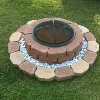 framed cheap o fire pit