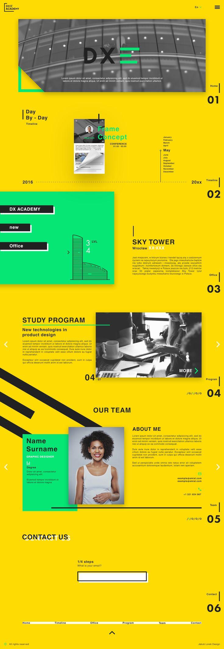 """Przejrzyj mój projekt w @Behance: """"Dx Academy web design"""" https://www.behance.net/gallery/40286877/Dx-Academy-web-design"""