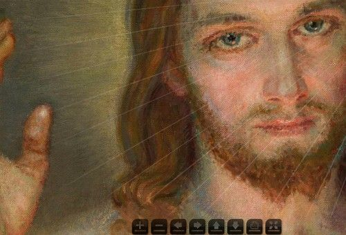 Piotr Tumidajski postanowił pokazać najsłynniejszy na świecie obraz Jezusa w 3 miliardach pikseli. Praca zajęła 6..