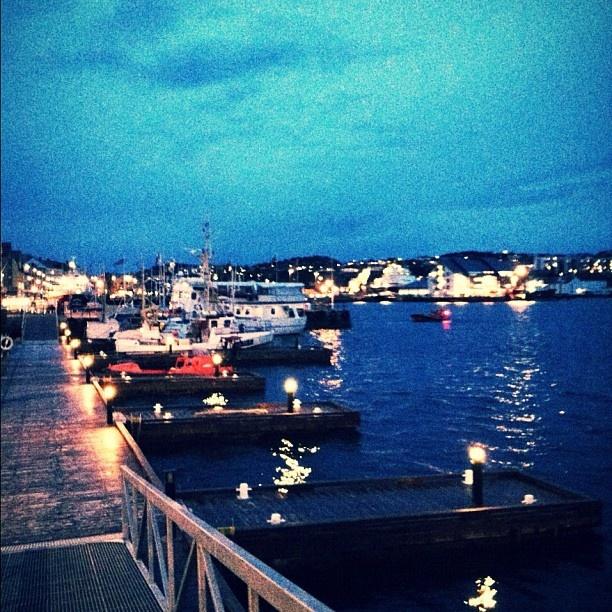Kristiansund by night, Norway :)