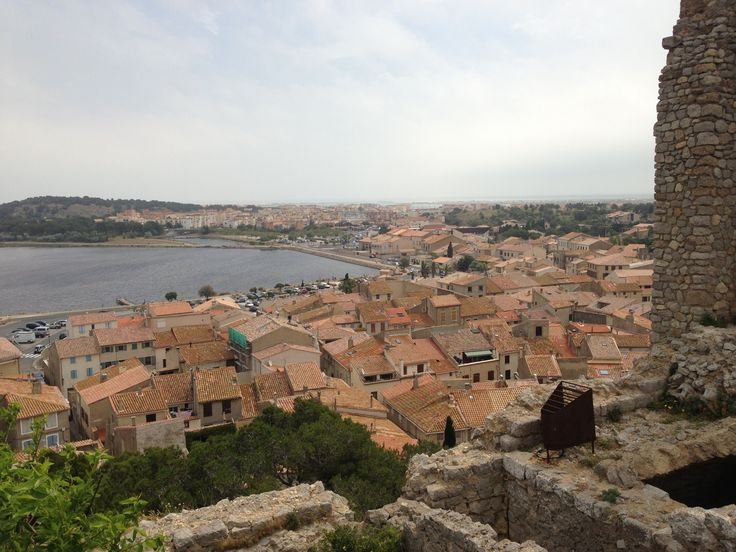 Circular medieval town, view from the tower #Gruissan