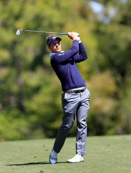 Luke Donald in action during round one of Tampa Bay Championship