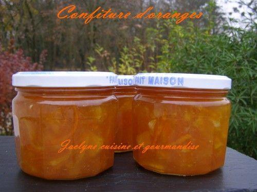 Confiture d'oranges Jaclyne cuisine et gourmandise