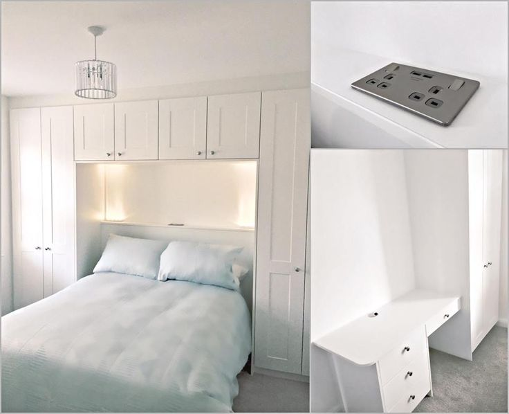 A over the bed built in wardrobe and storage