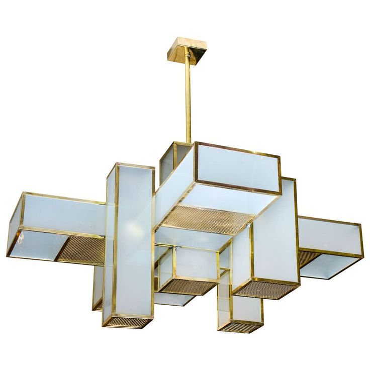 1960s Chandelier Attributed to Jean Perzel | See more antique and modern Chandeliers and Pendants at http://www.1stdibs.com/furniture/lighting/chandeliers-pendant-lights