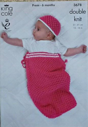 KNITTING PATTERN Babies Snuggle-Sack Sleeping Bag and ...