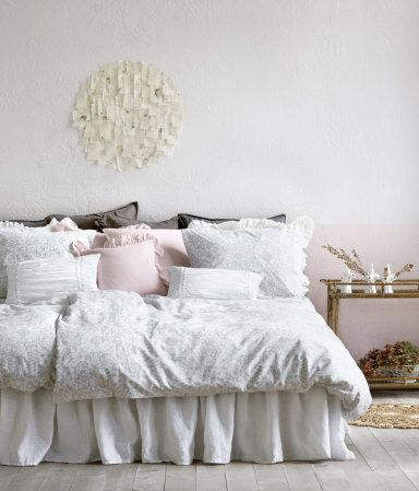 White bed skirt. Product Detail | H&M US