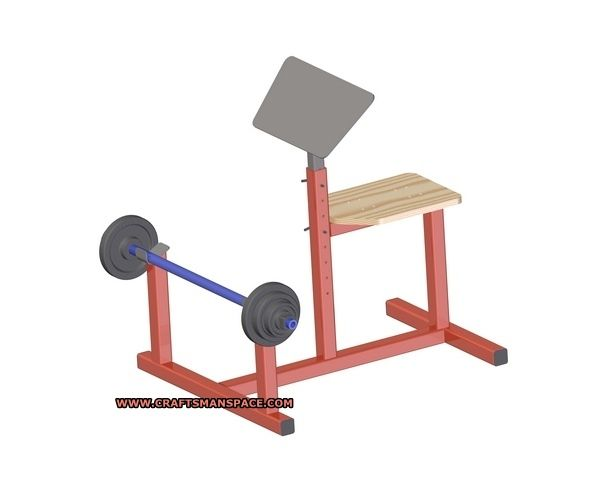 Preacher Curl Bench Plan Homemade Workout Equipment Pinterest Curls Projects And Bench Plans