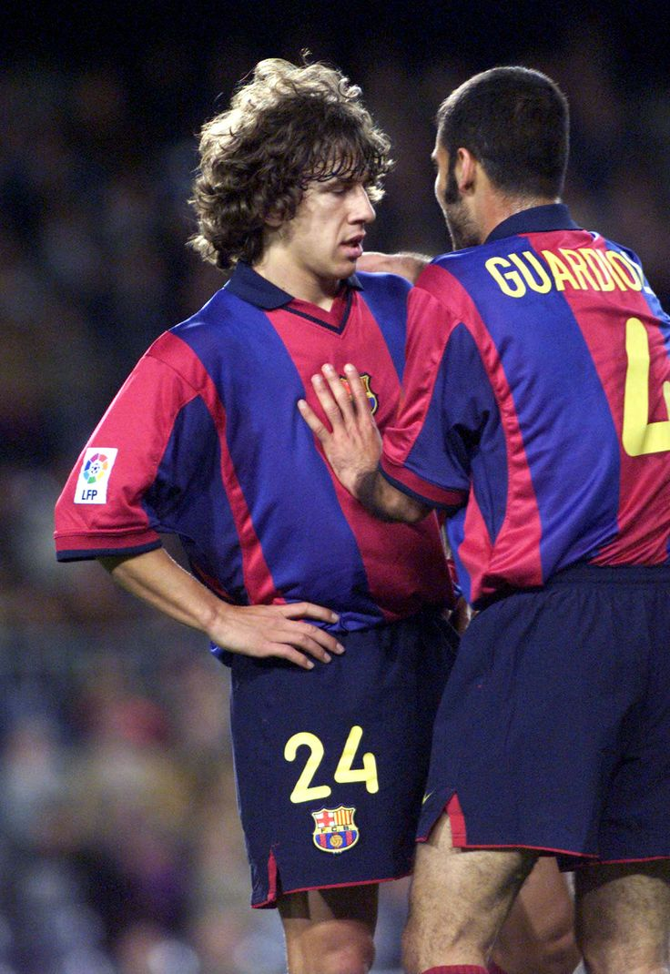 Carlos Puyol & Pep Guardiola - FC Barcelona H was even a coach back then!!!