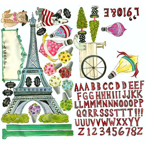 Found it at Wayfair - J'aime Paris Peel and Place Wall Decal Set