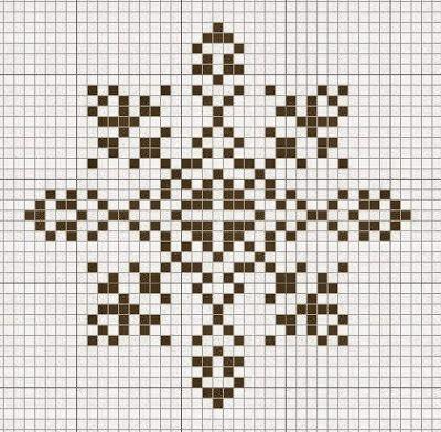 Fiocchi di neve a punto croce   Punto croce - Schemi e Ricami gratuiti