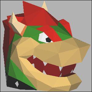 クッパの展開図 似顔絵 無料 ダウンロード ペーパークラフトファン