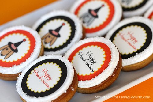 How to Make Cookies with Edible Images - Easy Halloween Party Idea - LivingLocurto.com - could use this idea with any printable!  (Requires EDIBLE INK PRINTER)