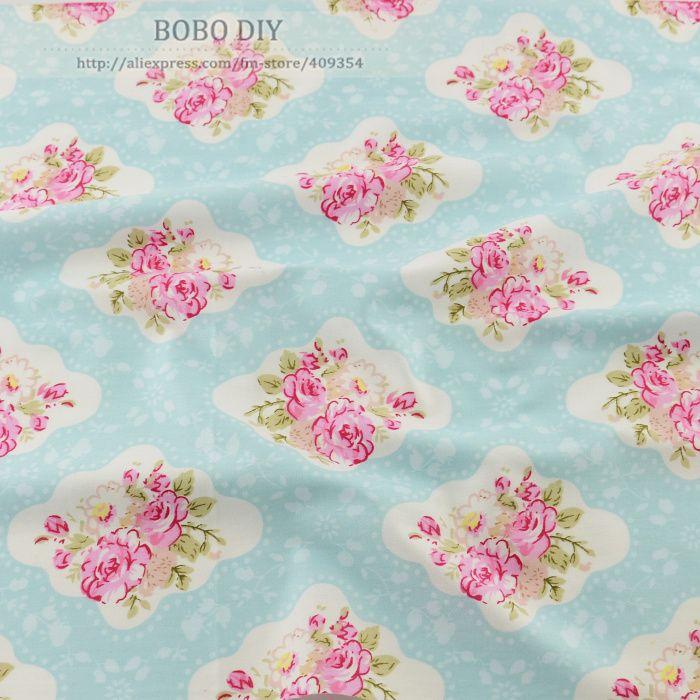 50 см x 160 см / piece довольно винтаж роуз хлопок ткань лоскутное стежка одежда tecido платье швейные постельных принадлежностей домашнего текстиля тильдакупить в магазине BOBO DIYнаAliExpress