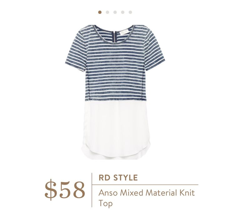 RD Style Anso Mixed Material Knit Top/June @stitchfix review