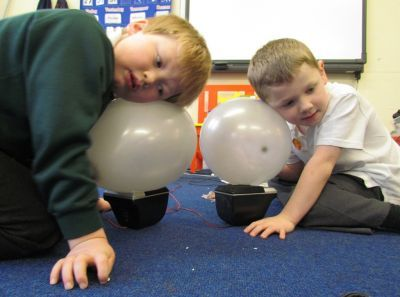 The science of music vibrations through balloons - this is fab, have done with classes