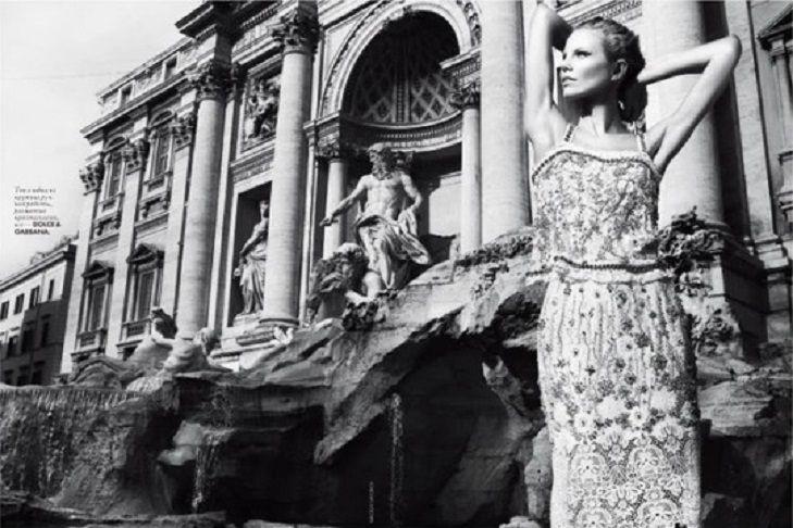 Ragnhild Jevne at the Trevi Fountain