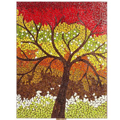 Change out your art with the season!  This handcrafted Lively Tree Mosaic Panel brings fall's beauty indoors.  Available at Pier1.: Decorating Ideas, Mosaic Inspirations, Mosaic Trees, Slively Tree, Tree Mosaic, Mosaic Landscape Trees, Mosaics Inspiration, Tree Panel Pier1, Mosaic Art