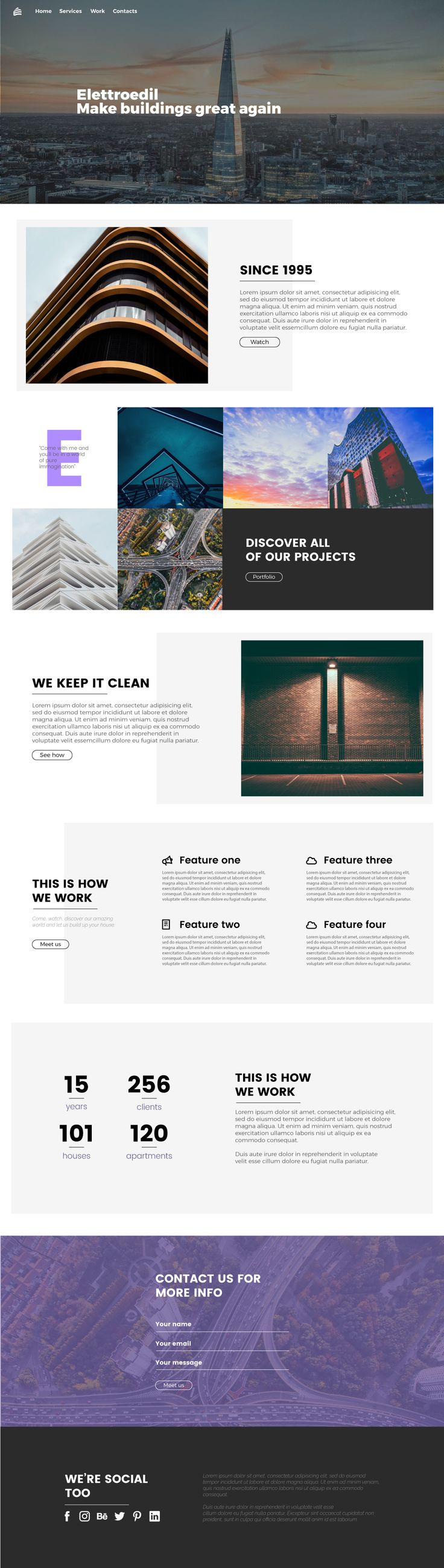 4th Day. This is my 4th layout for the weekly challenge. Inspired by Alexey Maslov on behance.  Hope you enjoy it. We're almost done.  #design #minimal #clear #web #site #template #awwwards #landingpage