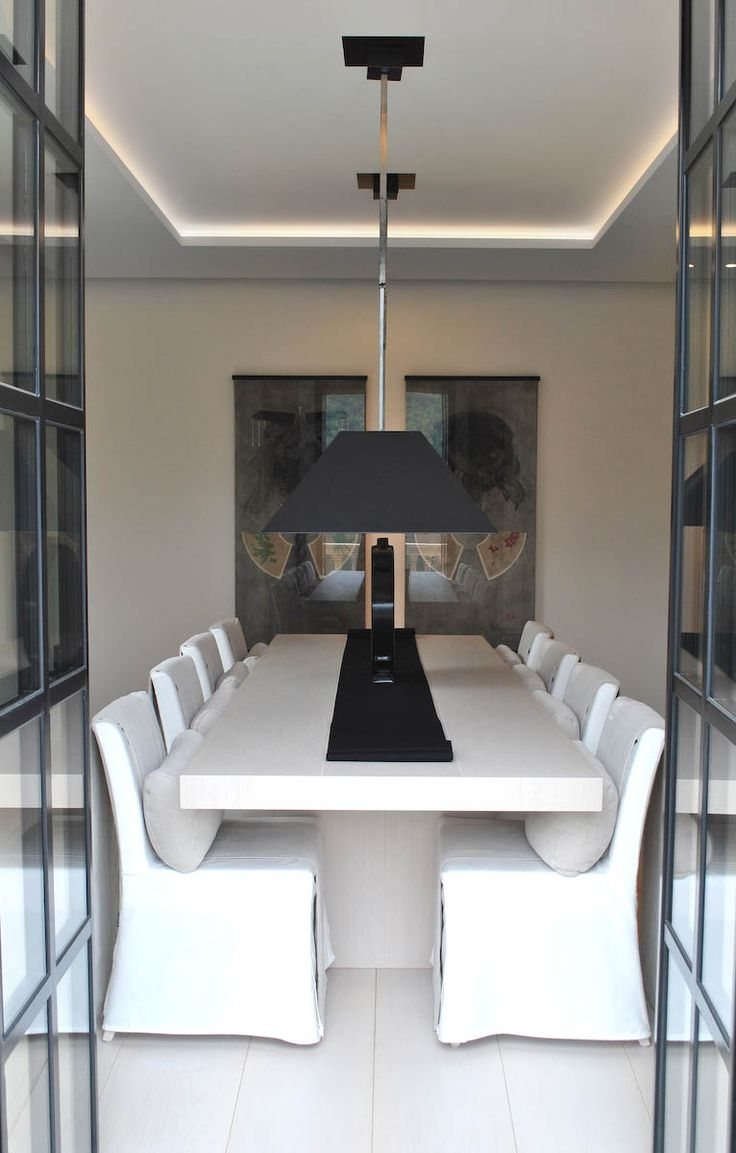 Modern traditional dining room - Anouska Hempel Design Architects Interior Design Landscapes Product Design And Furniture White Dining Roomsmodern