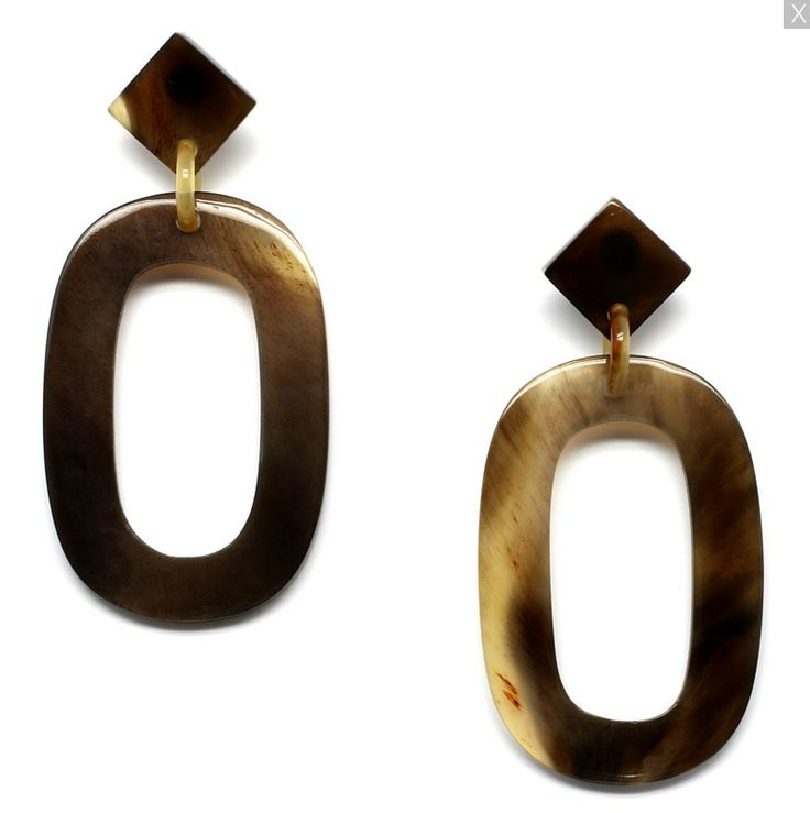 Gorgeous handmade earrings of buffalo horn. Watch our Buffalo horn jewelry collection now!
