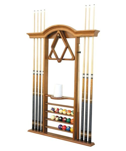 Level Best Deluxe Wall Pool Cue Rack - Pool Table Accessories at Hayneedle