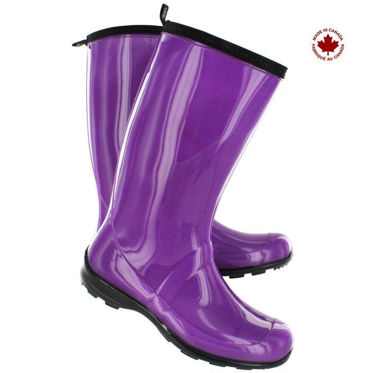 Purple rain boots - I do need a pair :)  Women's ATRIUM HEIDI short waterproof rain boots