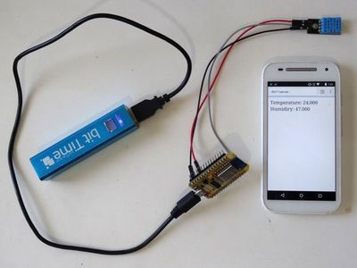Build and program your own ESP8266 Temperature and Humidity Web Server - quick and easy By Boian Mitov. #Arduino #Visuino #ESP8266 #NodeMCU