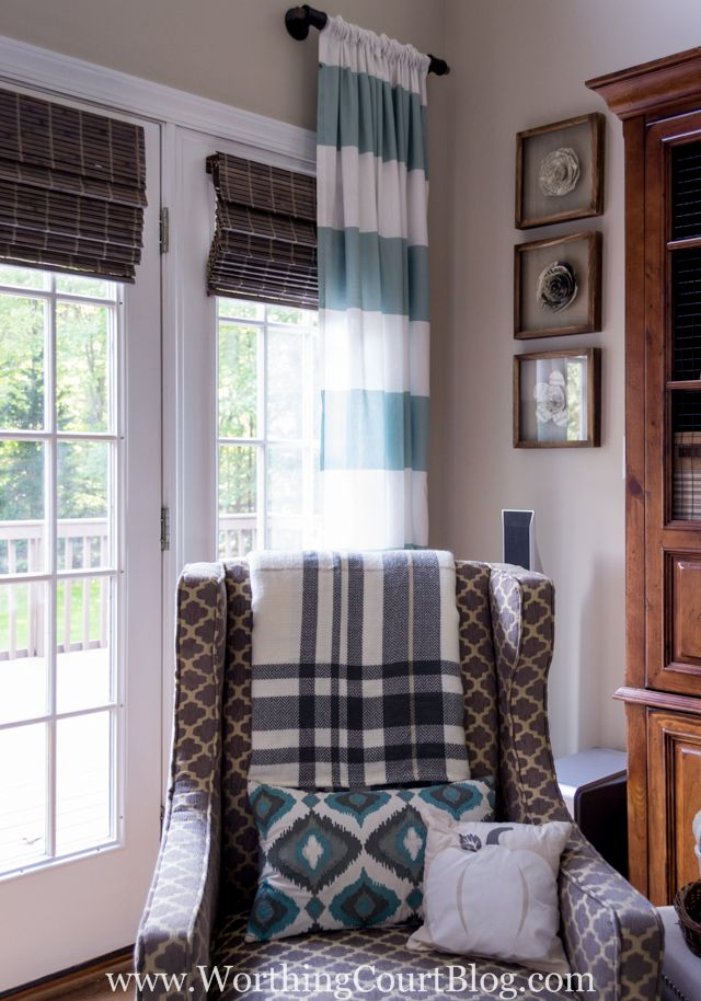 Budget Friendly Window Treatments For The Family Room - Worthing Court