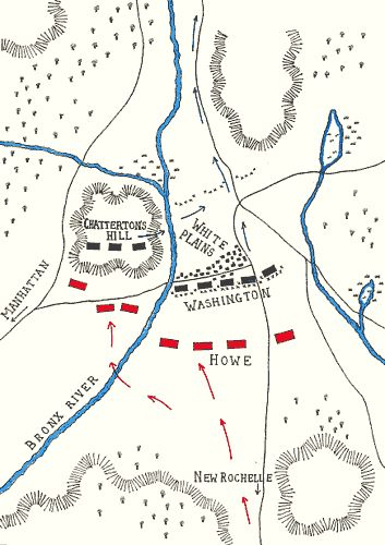 Battle of White Plains: map by John Fawkes