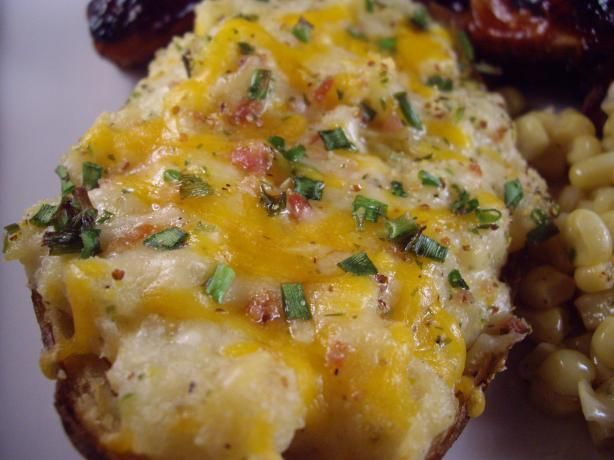 Easy Twice Baked Potatoes.
