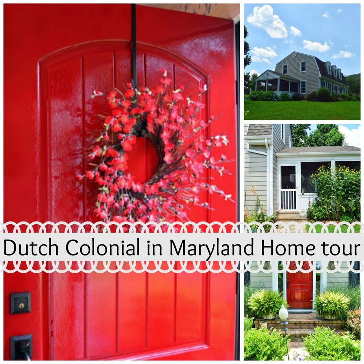 Dutch Colonial style Home tour in Maryland with wonderful diy's, warmth and traditional home decor. Red door is stunning!