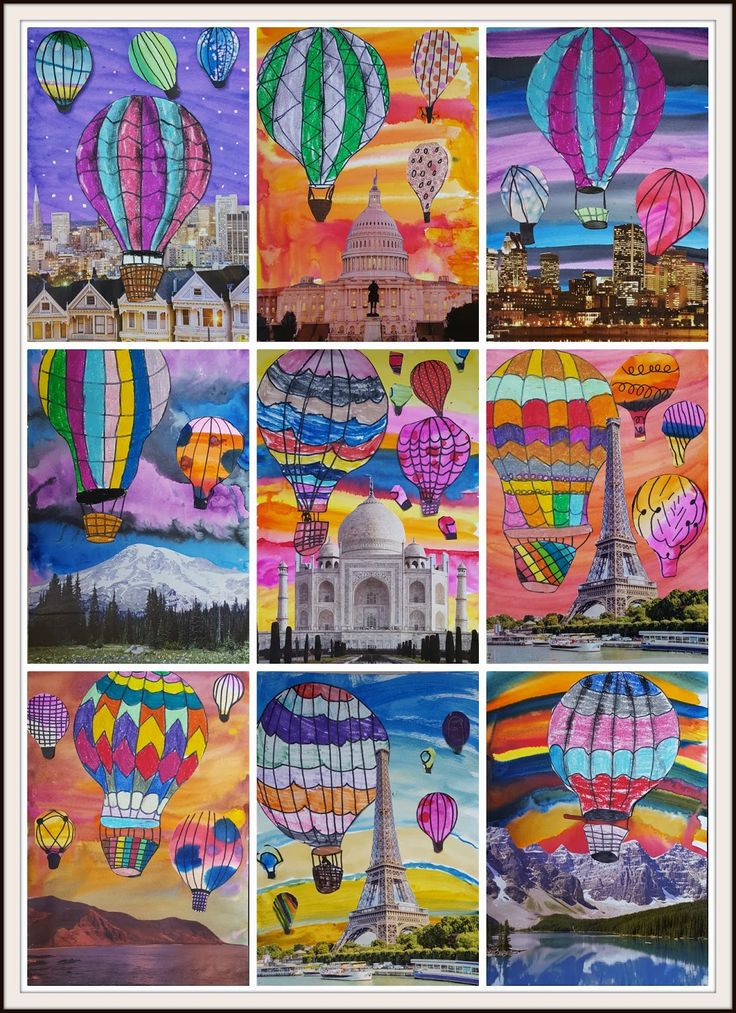 MaryMaking: Surreal Hot Air Balloon Collages II