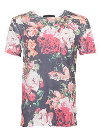 Serge DeNimes T-Shirt mit Rosen-Print*