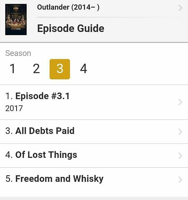 Titles of episodes 3, 4 and 5 of #Outlander Season 3 Via imdb instagram.com/p/BPvNxPBj_qH/